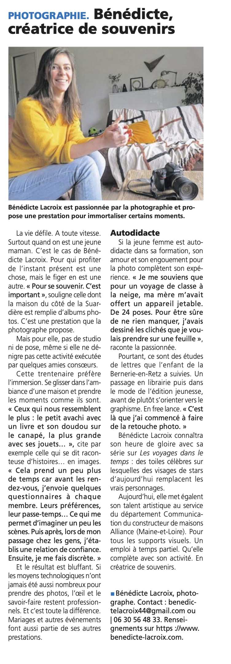 Interview Benedicte Lacroix Photographe Clisson