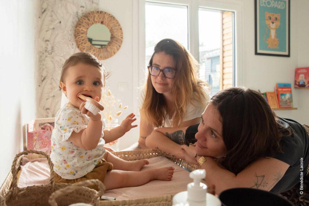 reportage photo meres et fille chambre enfant